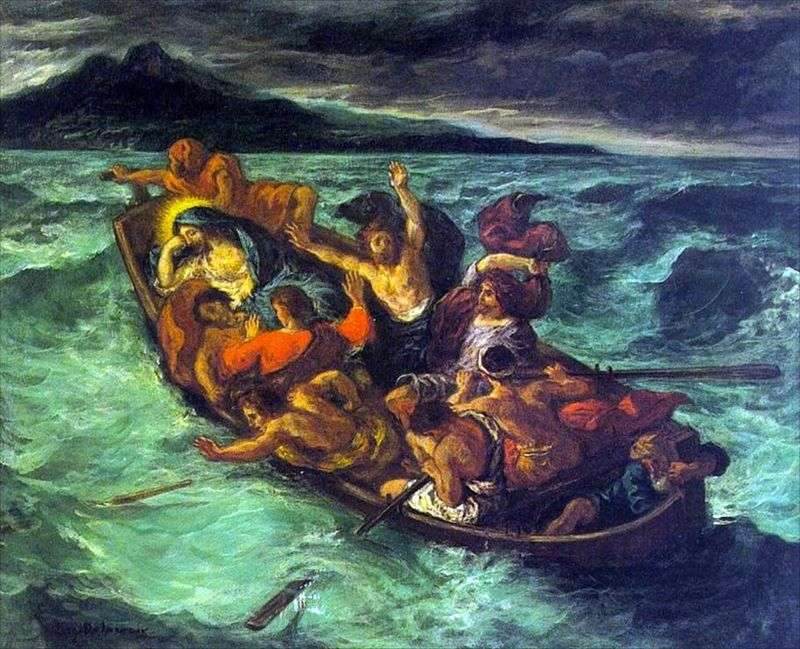 Сон Христа під час бурі   Ежен Делакруа