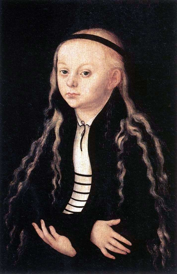 Портрет Магдалени Лютер   Лукас Кранах