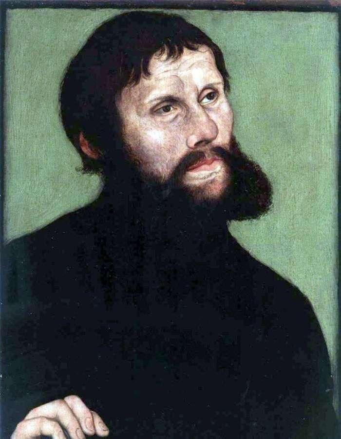 Портрет Мартіна Лютера в образі лицаря Йорга   Лукас Кранах