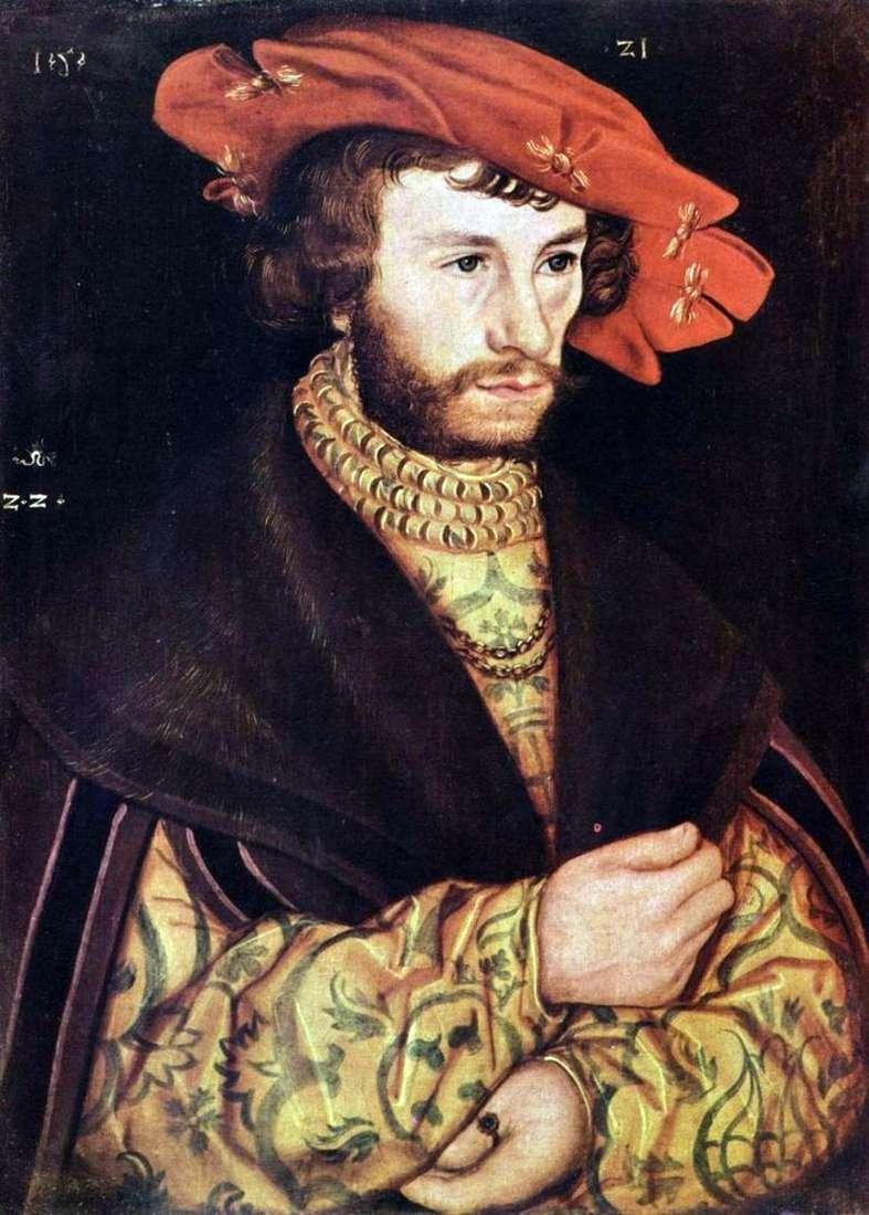 Портрет молодого чоловіка в береті   Лукас Кранах