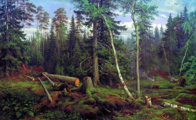 Рубка лісу   Іван Шишкін
