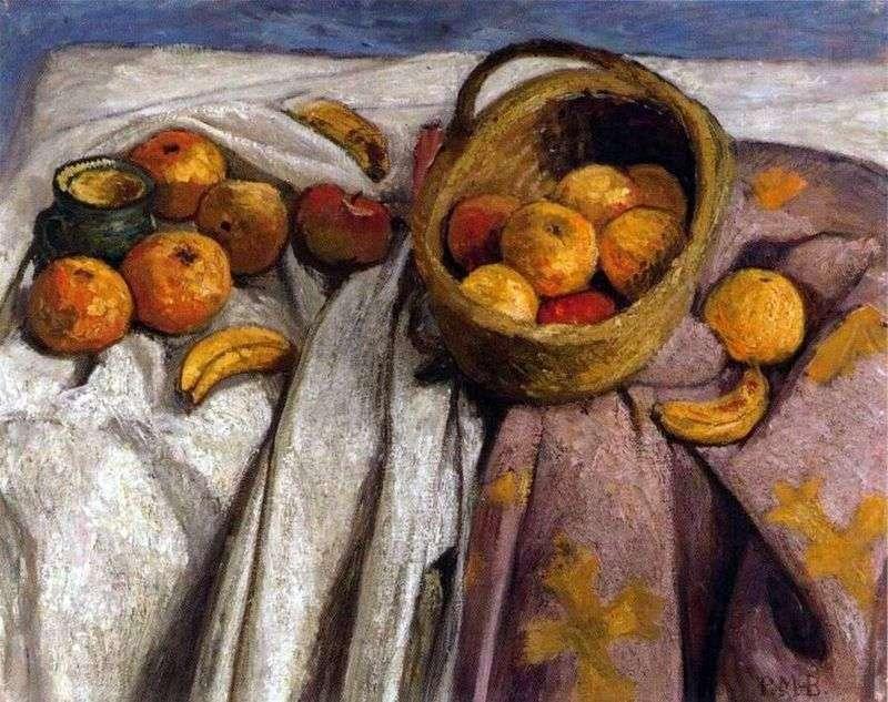 Натюрморт з яблуками та бананами   Паула Модерзон Беккер