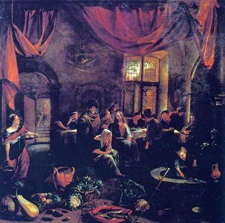 Христос в будинку Марфи і Марії   Ян Стін