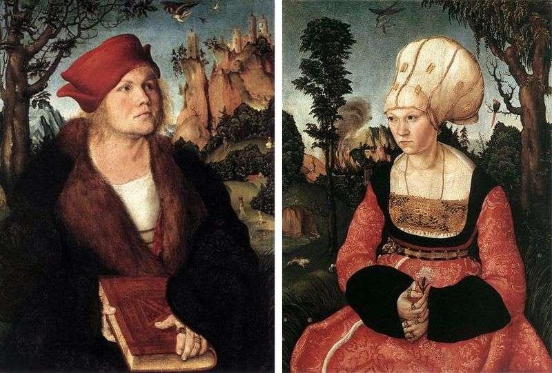 Портрети Йоганнеса Куспиниана і його дружини   Лукас Кранах