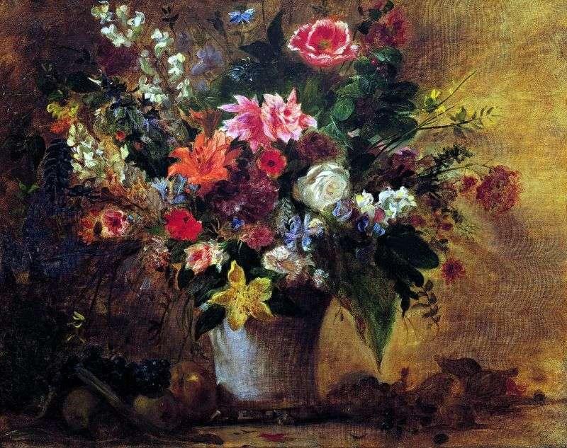 Квіти і фрукти   Ежен Делакруа