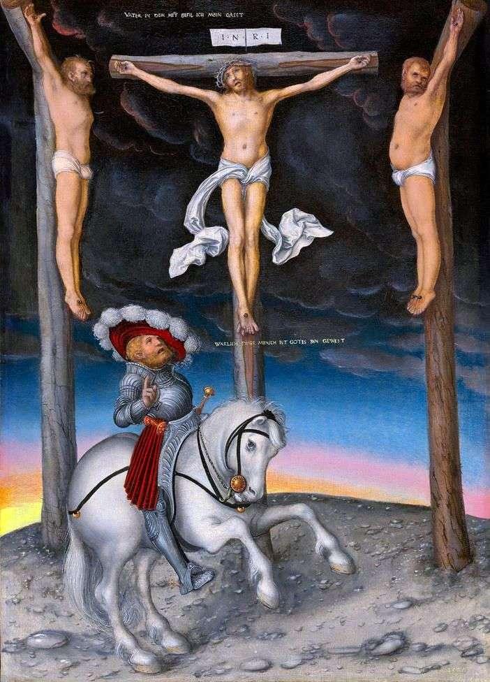 Розпяття з преображеною центуріоном   Лукас Кранах