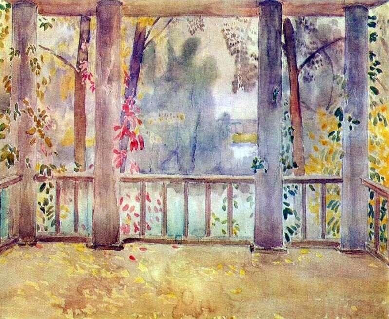 На балконі в Тарусі   Віктор Борисов Мусатов