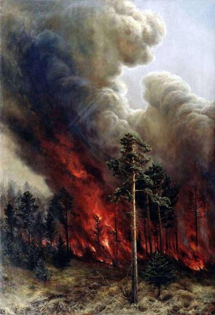 Лісова пожежа   Олексій Денисов Уральський