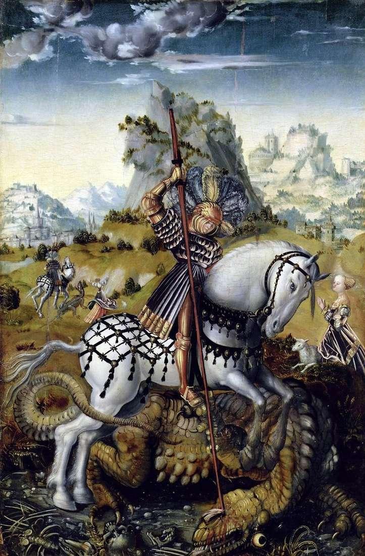 Святий Георгій і дракон   Лукас Кранах