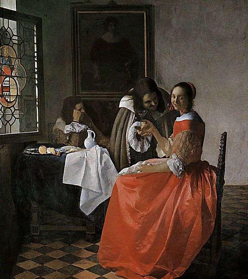 Дама і два кавалера   Ян Вермеер