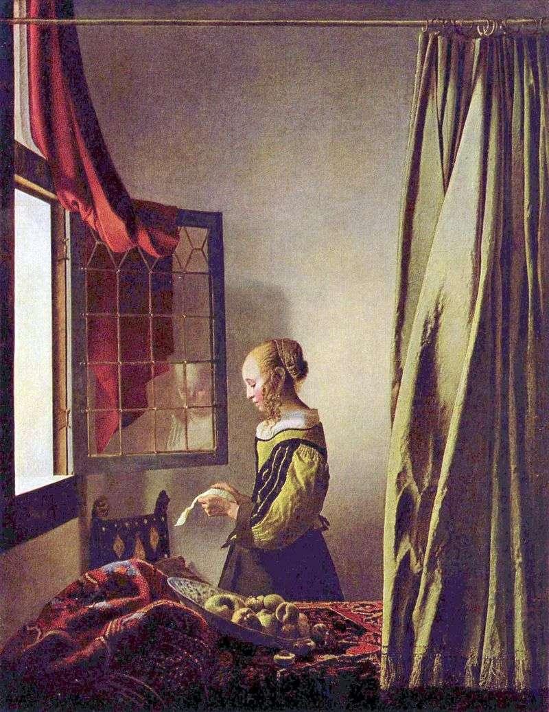 Дівчина, що читає лист біля відкритого вікна   Ян Вермеер