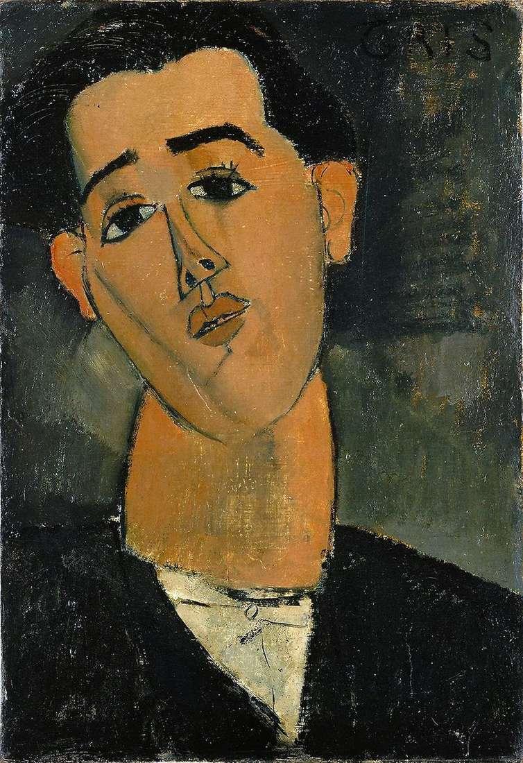 Портрет Хуана Гріса   Амедео Модільяні