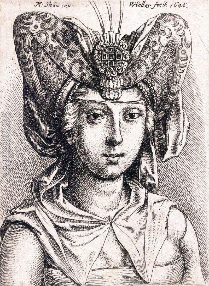 Портрет молодої жінки у тюрбані   Мартін Шонгауер