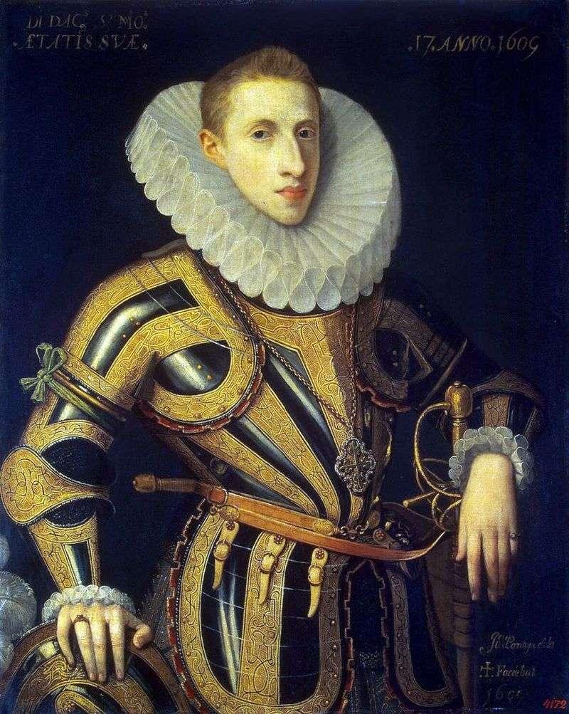 Портрет Дієго де Вильямайора   Хуан Пантоха де ла Крус