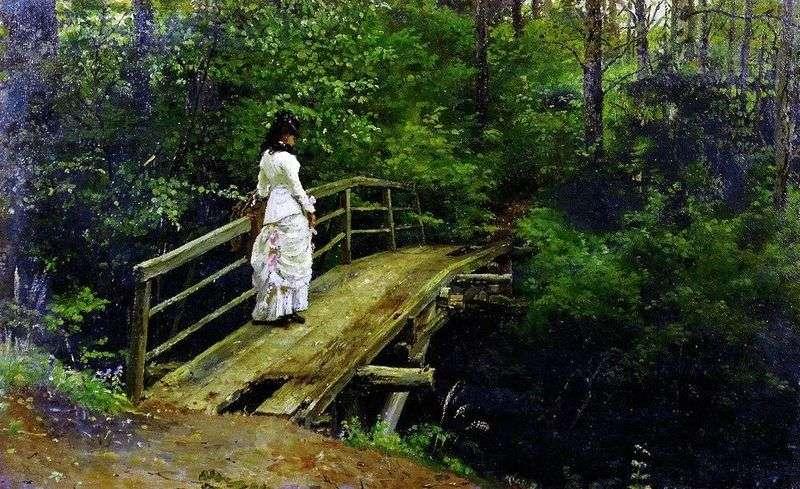 Віра Олексіївна Рєпіна на містку в Абрамцево   Ілля Рєпін
