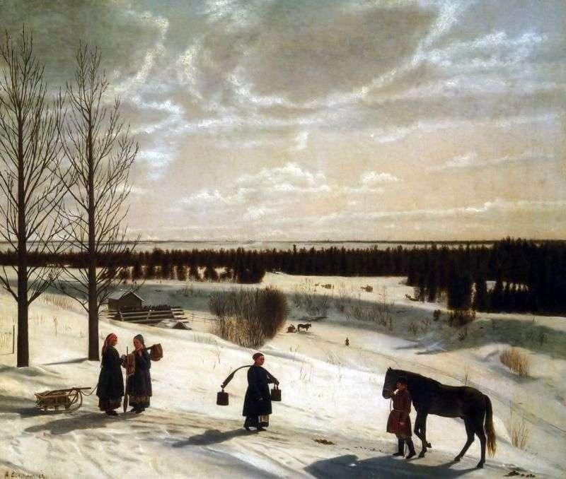 Зимовий пейзаж   Никифор Крилов