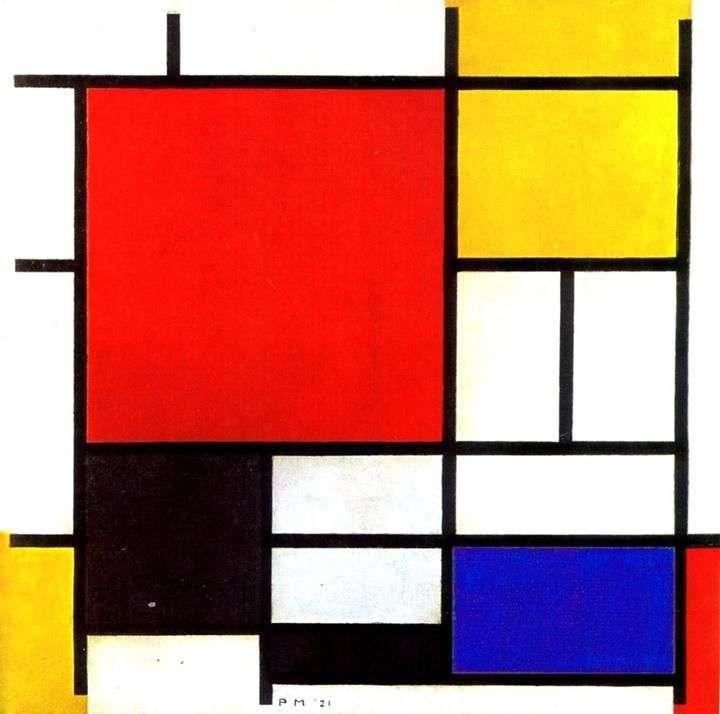 Червоний, жовтий, синій і чорний   Пітер Корнеліс Мондріан