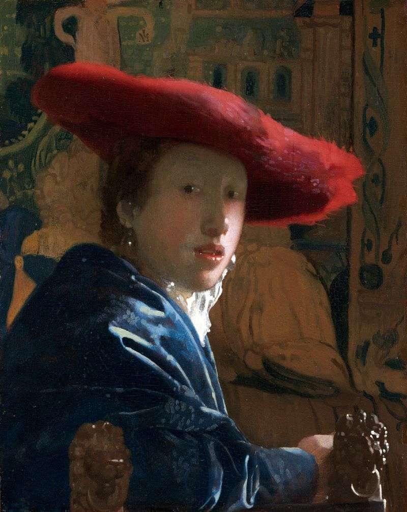 Портрет дівчини у червоному вбранні   Ян Вермеер