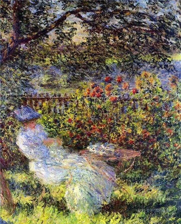 Аліса Ошеде в саду   Клод Моне