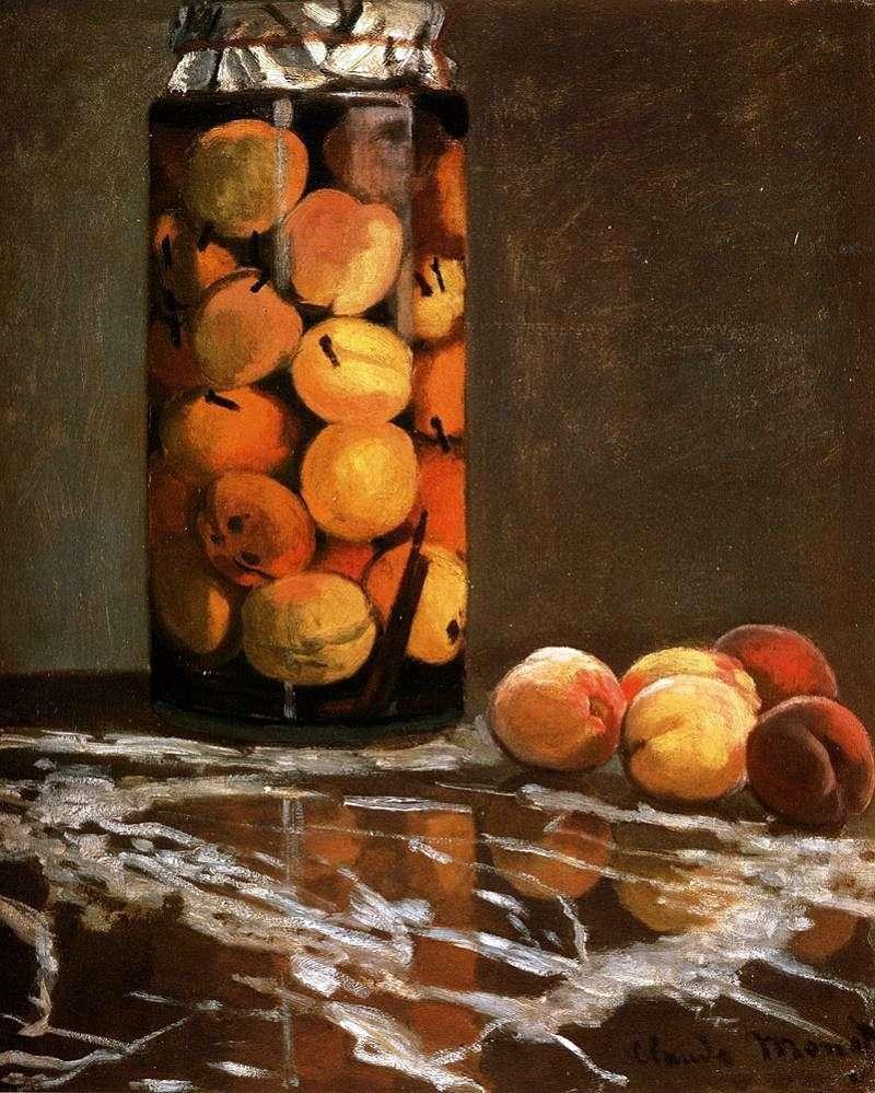Банку з персиками   Клод Моне