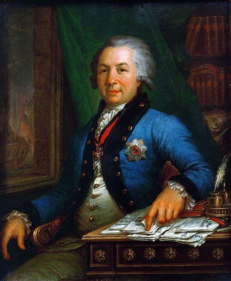 Портрет поета Р. Державіна 1795   Володимир Боровиковський