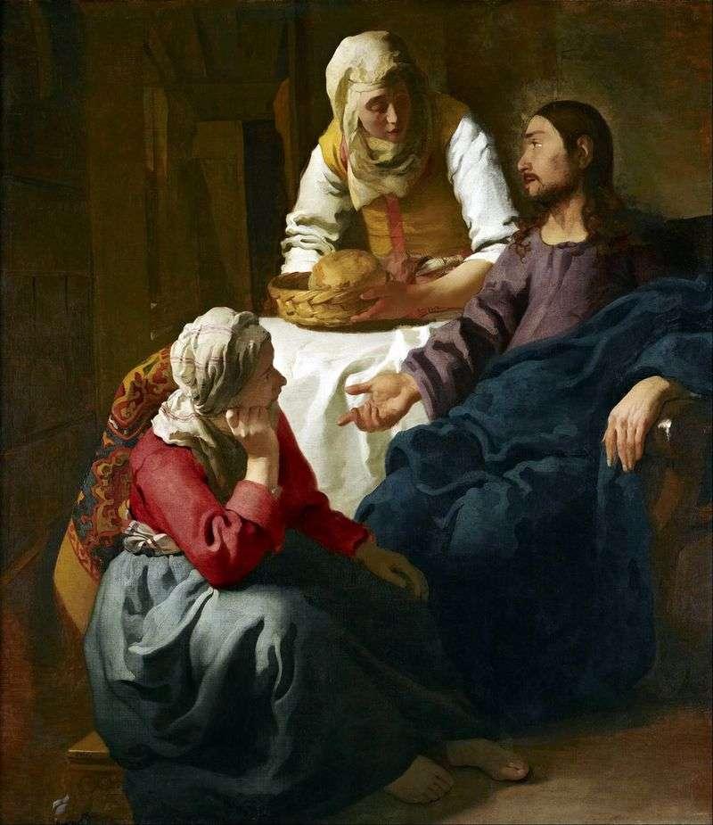 Христос в будинку Марфи і Марії   Ян Вермеер