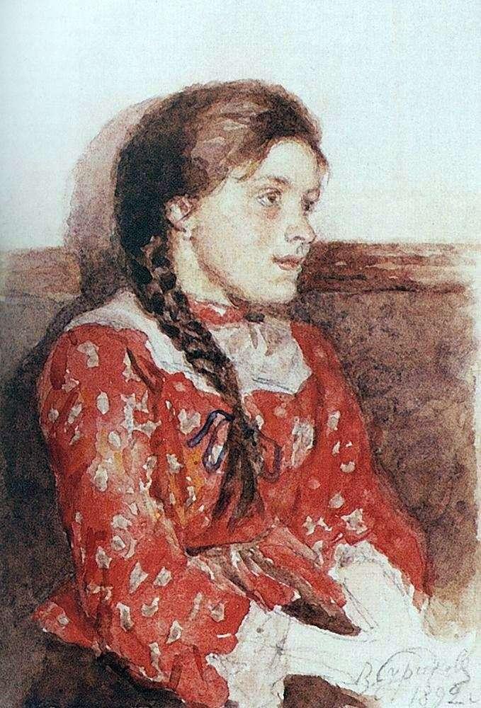 Дівчина в червоній кофті   Василь Суріков