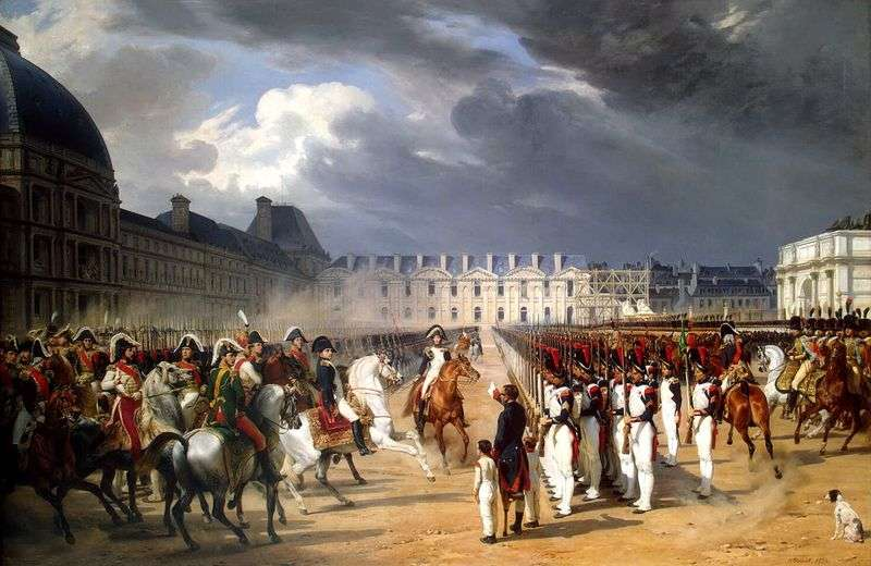 Інвалід, що подає прохання Наполеону на параді гвардії перед палацом Тюїльрі в Парижі   Орас Верне