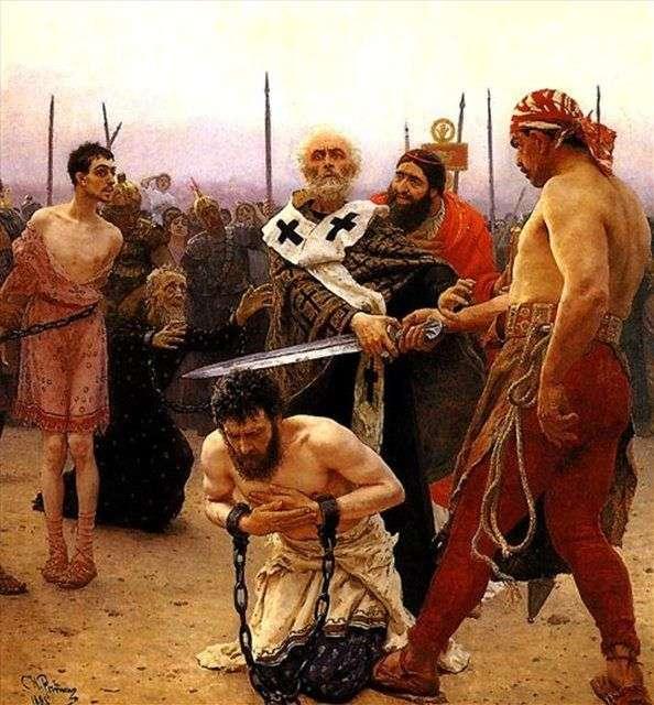 Миколай Мирлікійський рятує від страти трьох невинно засуджених   Ілля Рєпін