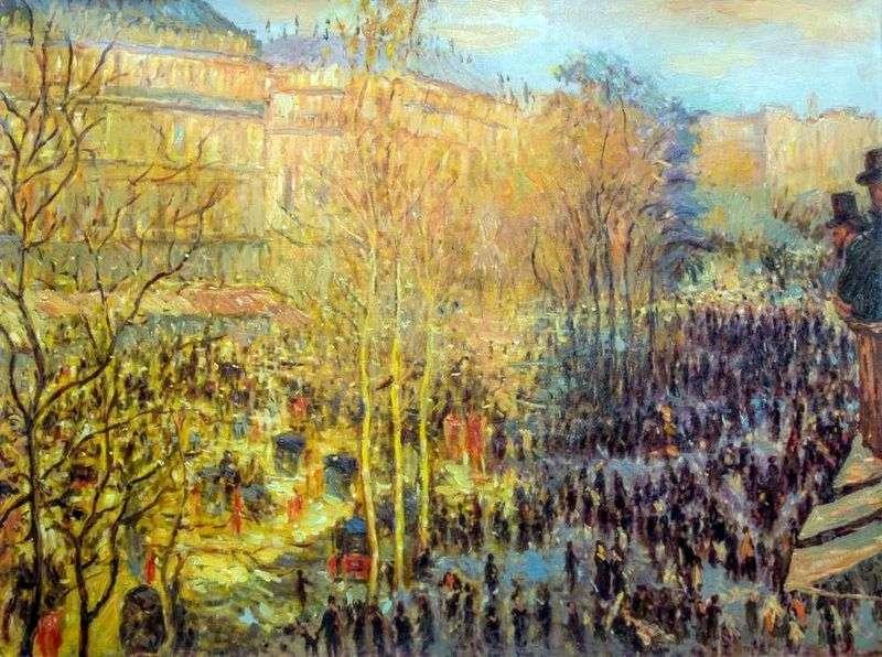 Бульвар Капуцинок у Парижі   Клод Моне