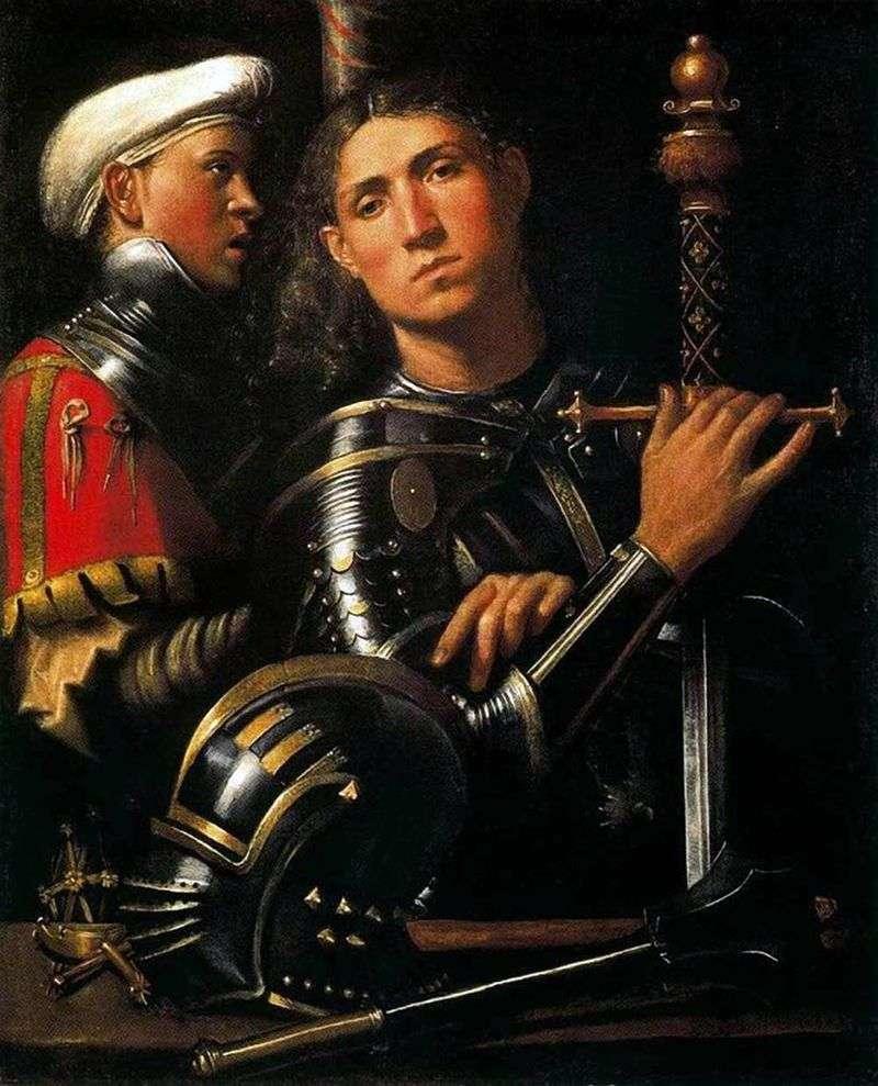 Воїн зі своїм зброєносцем   Джорджоне
