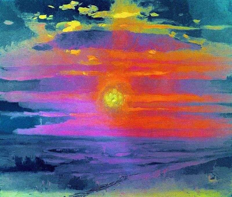 Захід сонця взимку. Берег моря   Архип Куїнджі