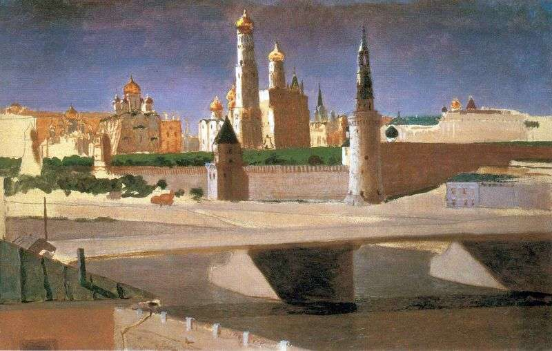 Москва. Вид на Кремль з боку Замоскворечья   Архип Куїнджі