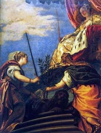 Венеція   володарка з фігурами Справедливості і Миру   Паоло Веронезе