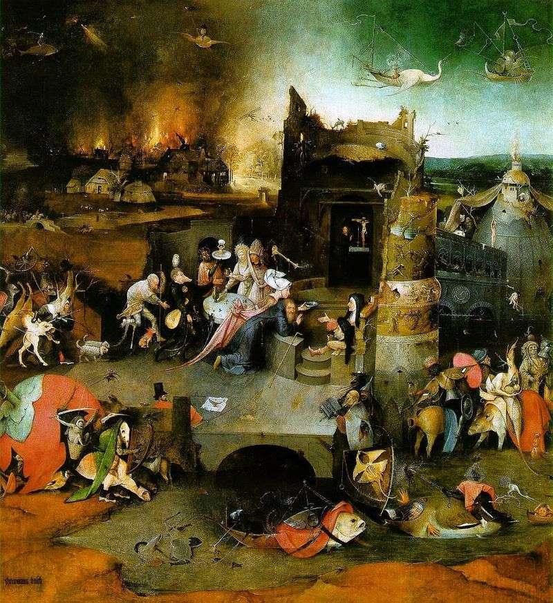 Вівтар Святого Антонія. Центральна частина триптиха   Иеронимус Босх