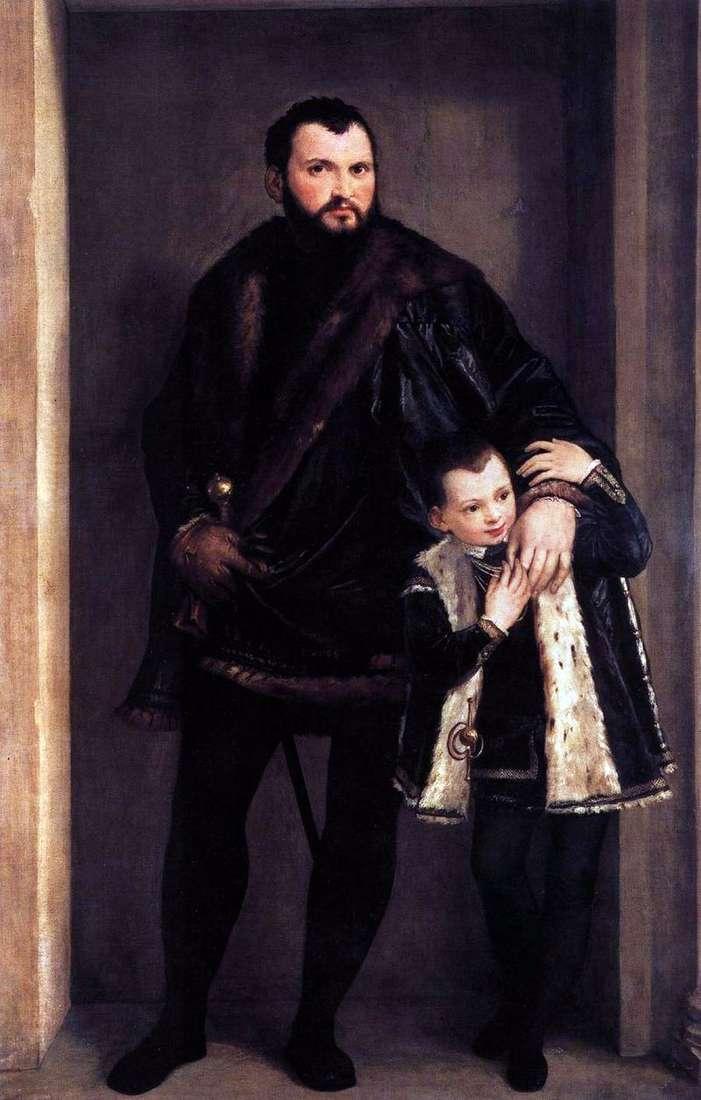 Граф де Порто з сином Адріано   Паоло Веронезе
