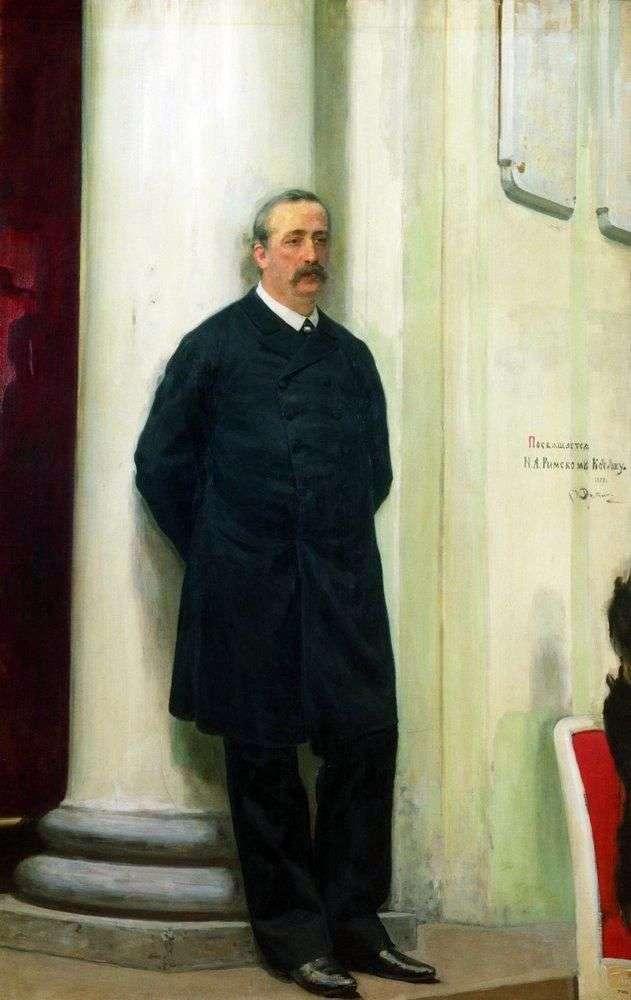 Портрет композитора і вченого хіміка Олександра Порфировича Бородіна   Ілля Рєпін