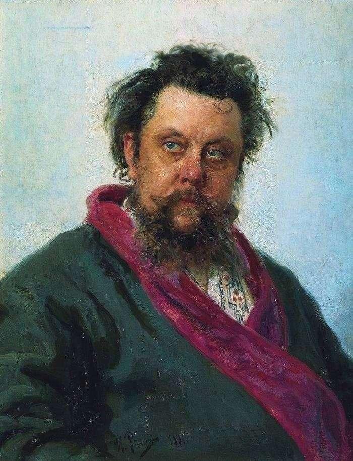 Портрет композитора М. П. Мусоргського   Ілля Рєпін
