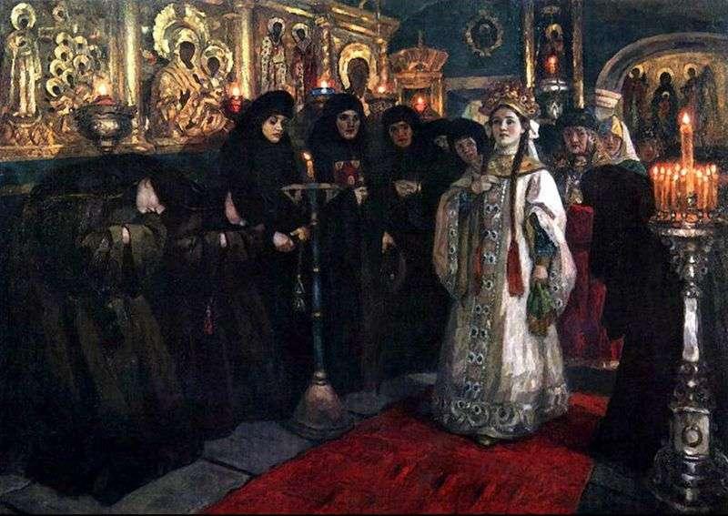 Відвідування царівною жіночого монастиря   Василь Суріков