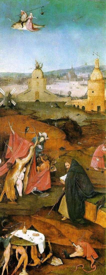 Бачення Святого Антонія. Праве крило вівтаря   Ієронім Босх