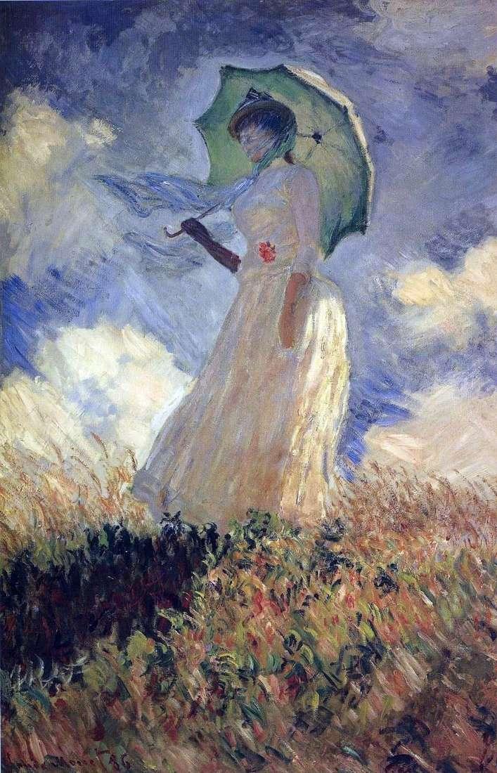 Дама з парасолькою   Клод Моне