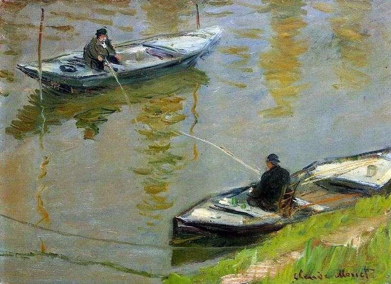 Два рибалки   Клод Моне