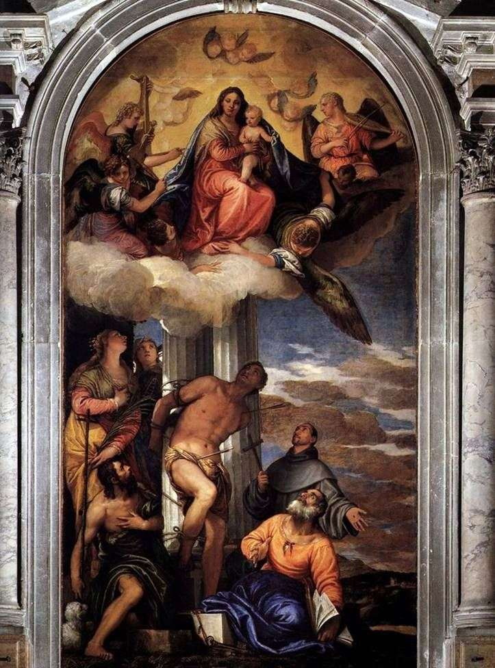 Мадонна у славі з святими Себастьяном та іншими святими   Паоло Веронезе