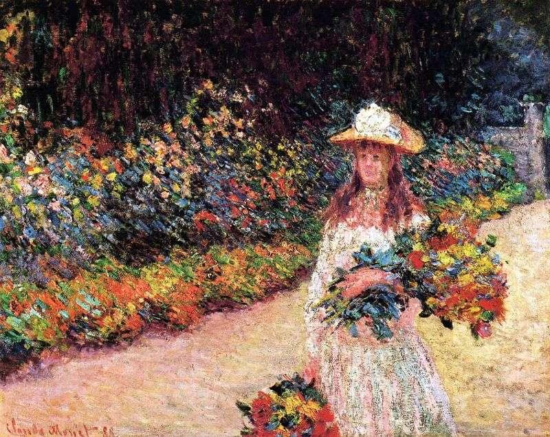 Дівчинка в саду, Живерні   Клод Моне