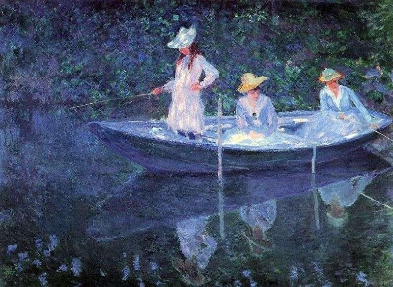 Дівчата в човні   Клод Моне