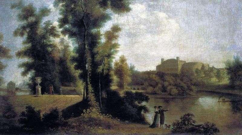 Вид на Гатчинський палац з Довгого острова   Семен Щедрін