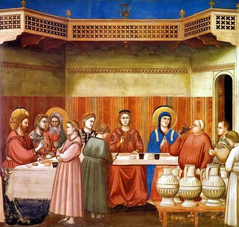 Шлюб в Кані Галілейській   Джотто