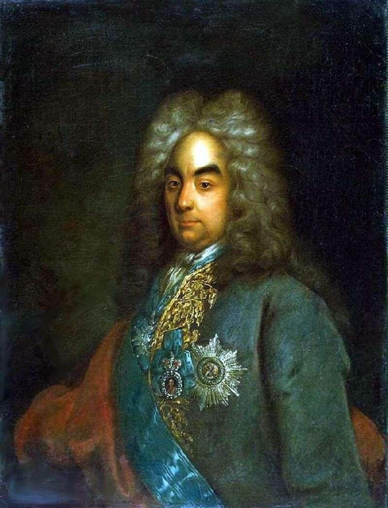 Портрет графа Петра Андрійовича Толстого   Йоганн Готфрід Таннауэр