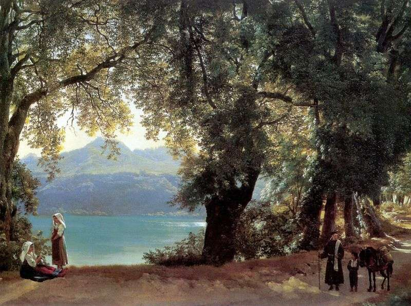 Вид озера Немі в околицях Риму   Сильвестр Щедрін