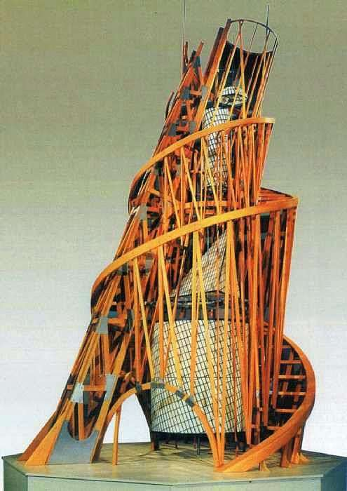 Вежа. Модель памятника III Інтернаціоналу   Володимир Татлін